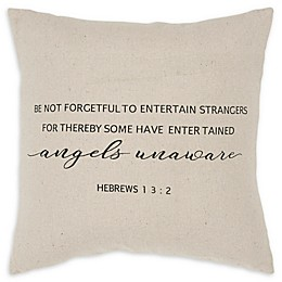 Rizzy Home Forgetful Square Throw Pillow in Natural