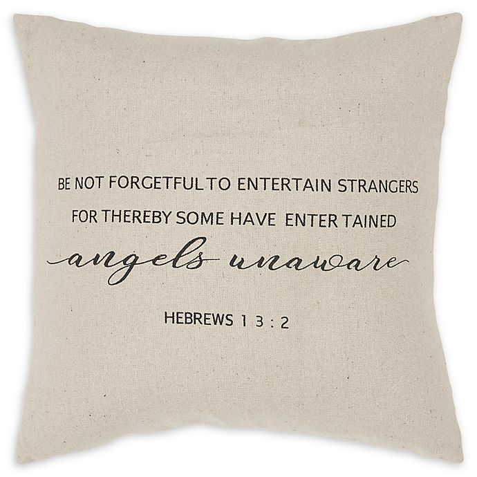 Alternate image 1 for Rizzy Home Forgetful Square Throw Pillow in Natural