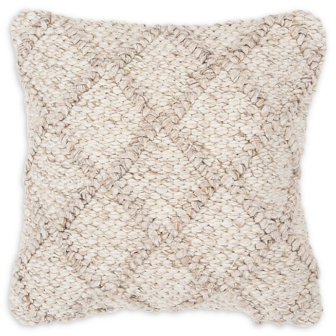 Alternate image 1 for Rizzy Home Diamond Donny Osmond Square Throw Pillow in Natural/Beige