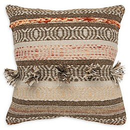 Rizzy Home Jaquard Woven Square Throw Pillow