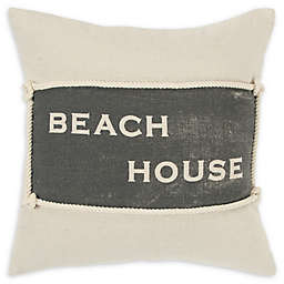 Rizzy Home Beach House Square Throw Pillow in Natural