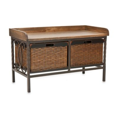 Safavieh Noah Wooden Storage Bench Bed Bath Amp Beyond