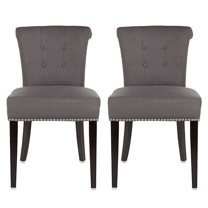 Pleasant Safavieh Sinclair Grey Side Chair Set Of 2 Bed Bath Beyond Unemploymentrelief Wooden Chair Designs For Living Room Unemploymentrelieforg