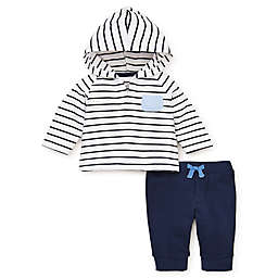 Little Me® French Terry 2-Piece Hooded Top and Pant Set in Navy