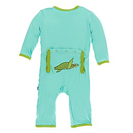 KicKee Pants® Turtle Flap Coverall in Green