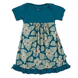 KicKee Pants® Oasis Hibiscus Dress in Blue