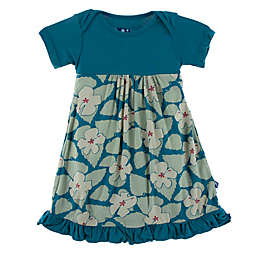 KicKee Pants® Size 0-3M Oasis Hibiscus Dress in Blue