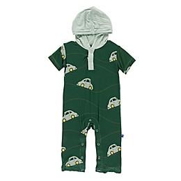 KicKee Pants® Car Hoodie Romper in Green