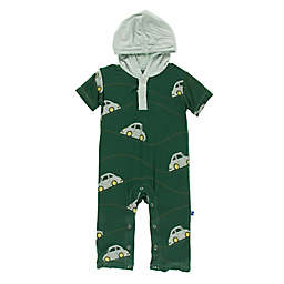 KicKee Pants® Car Hoodie Romper in Green