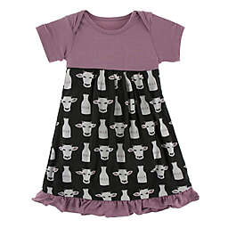 KicKee Pants® Cow Milk Dress in Black