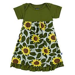 KicKee Pants® Newborn Sunflower Dress in Green