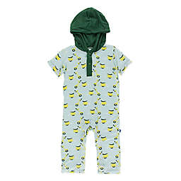 KicKee Pants® Size 0-3M Sky Scooter Hoodie Romper in Green