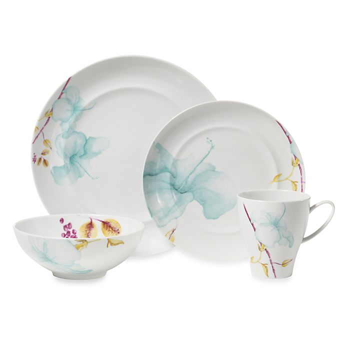 Alternate image 1 for Mikasa® Aliza Teal 4-Piece Place Setting