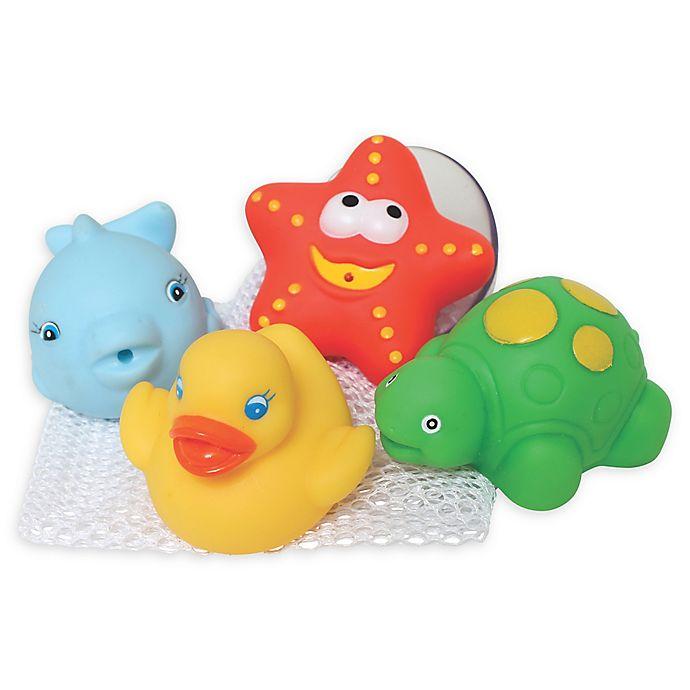 Alternate image 1 for Ocean Animal Bathtime Squirtees (Set of 4)