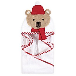 Bear with Scarf Hooded Bath Towel in Brown