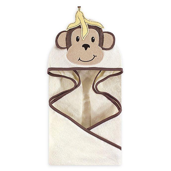 Alternate image 1 for Banana Monkey Hooded Bath Towel in Brown