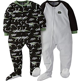 Gerber® 2-Pack Dino Camo Footed Pajamas in Grey
