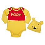 Disney® 2-Piece Winnie the Pooh Bodysuit and Hat Set in Yellow/Red