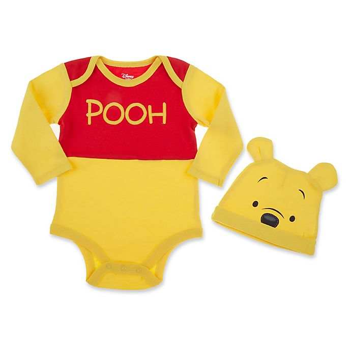 12f06e406 Disney® 2-Piece Winnie the Pooh Bodysuit and Hat Set in Yellow/Red ...