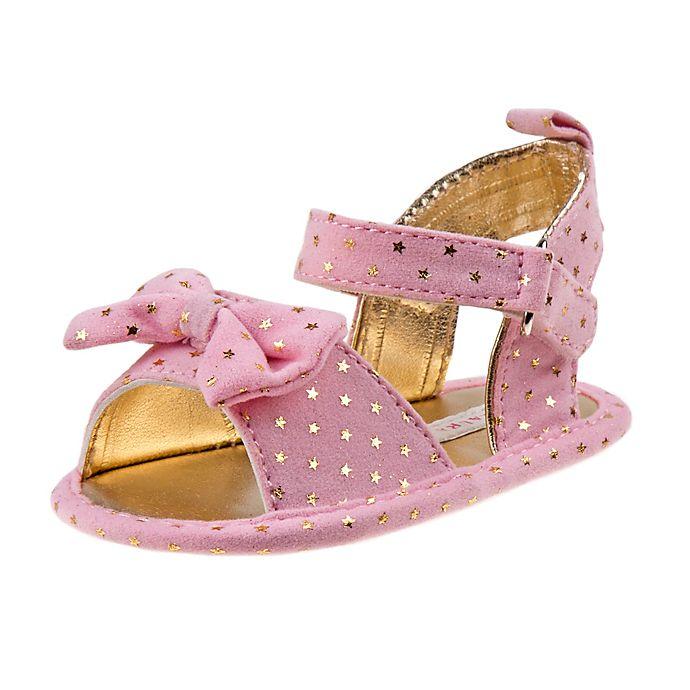 93b3fa614a2 Laura Ashley Stars Sandal in Pink Gold