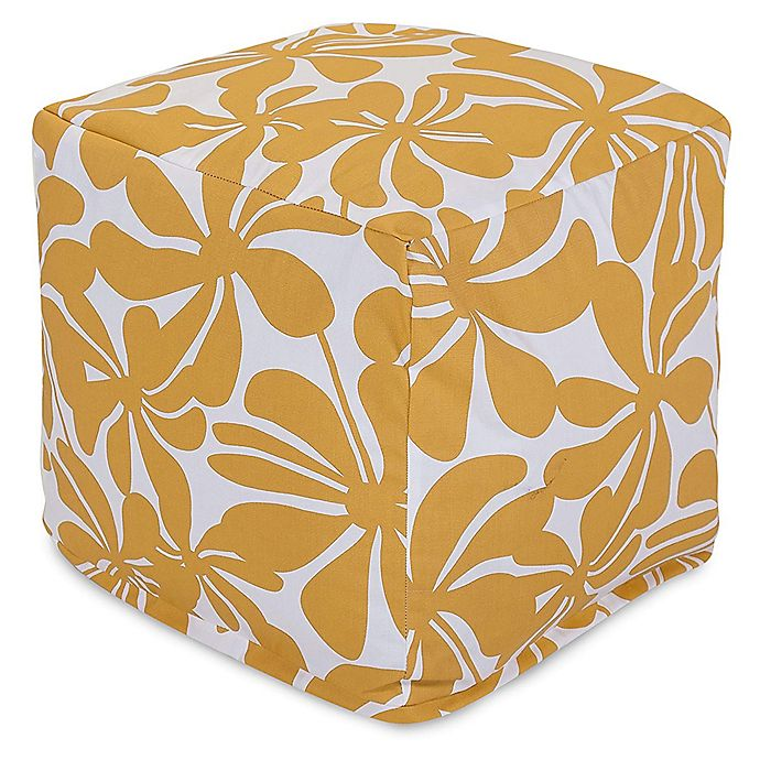 Alternate image 1 for Majestic Home Goods™ Polyester Plantation Ottoman in Yellow