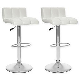 """Corliving™ Faux Leather Swivel 33"""" Bar Stools (Set of 2)"""