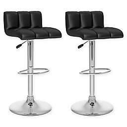 "Corliving™ Faux Leather Swivel 33"" Bar Stools (Set of 2)"