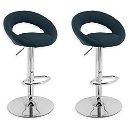 "Corliving™ Polyester Swivel 33"" Bar Stools (Set of 2)"