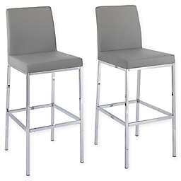 Corliving™ Faux Leather Huntington Bar Stools (Set of 2)