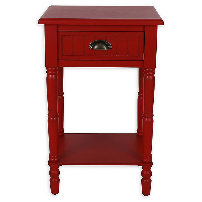Alternate image 1 for Decor Therapy Bailey Beadboard 1-Drawer Accent Table