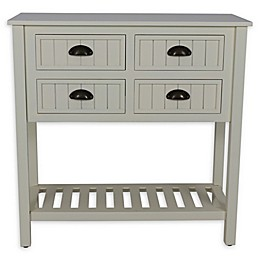 Decor Therapy Bailey Beadboard 4-Drawer Console Table