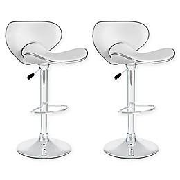 """Corliving™ Faux Leather Swivel 32"""" Bar Stools (Set of 2)"""