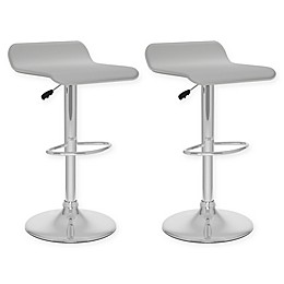"""Corliving™ Faux Leather Swivel 31"""" Bar Stools (Set of 2)"""
