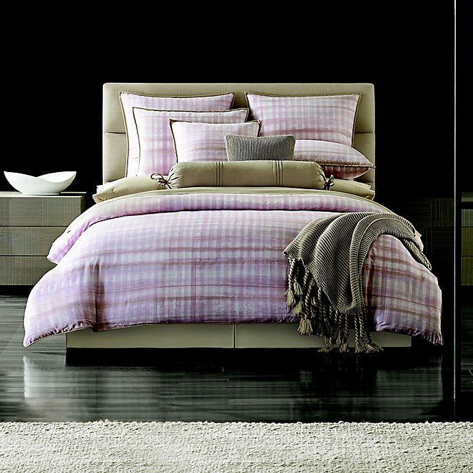 Alternate image 1 for Oscar/Oliver Serena Full/Queen Duvet Cover in Pink