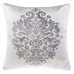 Wamsutta® Vintage Renaissance Embroidered Square Throw Pillow in Grey