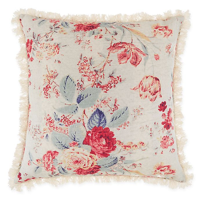 Alternate image 1 for Bee & Willow™ Home Multi-Floral Square Throw Pillow