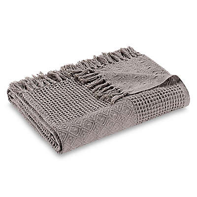 Bee & Willow™ Home Patchwork Throw Blanket in Soft Grey