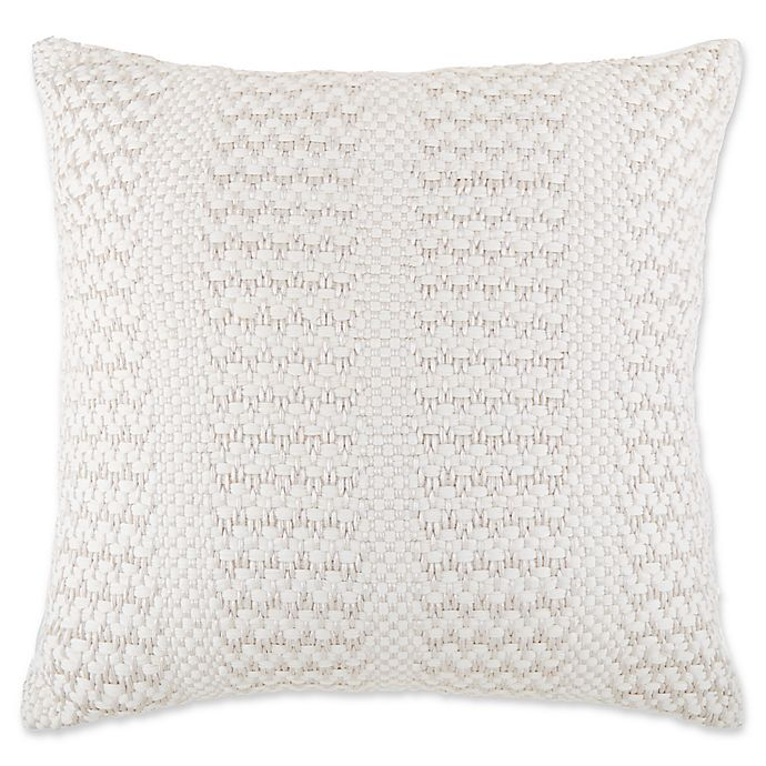 Alternate image 1 for Bee & Willow™ Home Metallic Cottage Stripe Oversized Throw Pillow  in Ivory