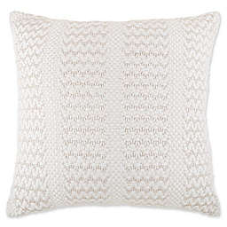 Bee & Willow™ Home Metallic Cottage Stripe Oversized Throw Pillow  in Ivory