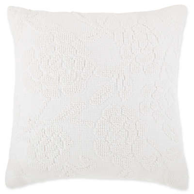 Bee & Willow™ Home Cottage Floral Square Throw Pillow in Ivory