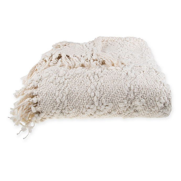 Alternate image 1 for Bee & Willow™ Home Ava Throw Blanket in Ivory