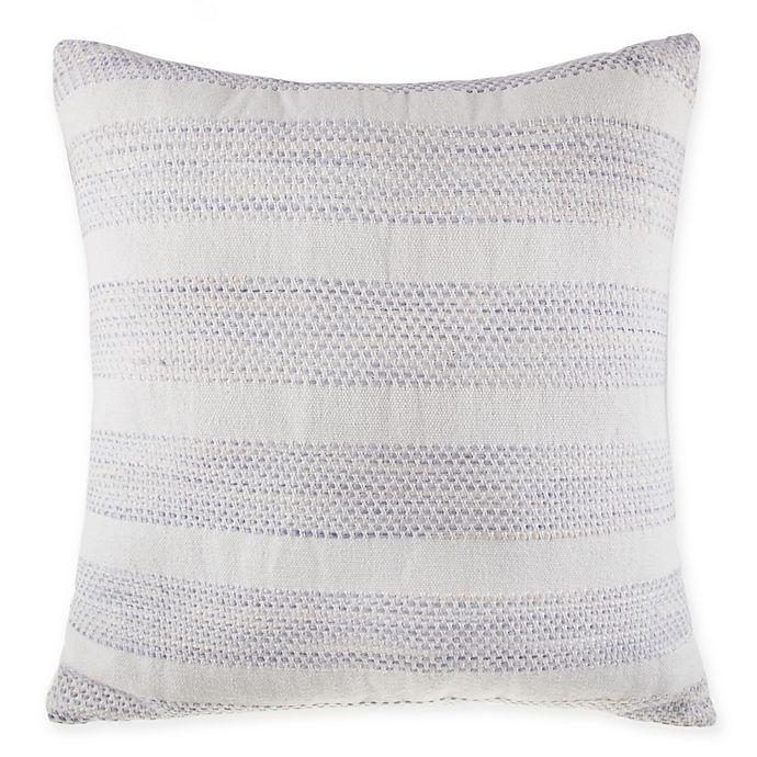 Peachy Bee Willow Home Yarn Dye Stripe European Square Throw Pillow In White Blue Uwap Interior Chair Design Uwaporg