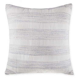 Bee & Willow™ Home Yarn Dye Stripe European Square Throw Pillow in White/Blue