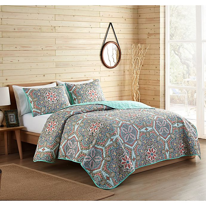 Alternate image 1 for VCNY Home Yara Reversible Medallion Quilt Set