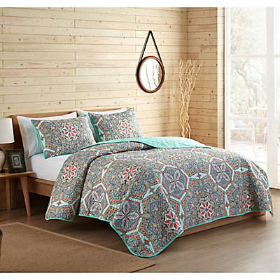 VCNY Home Yara Reversible Medallion Quilt Set