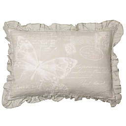 Bee & Willow™ Home Butterfly Ruffle Oblong Throw Pillow in Grey