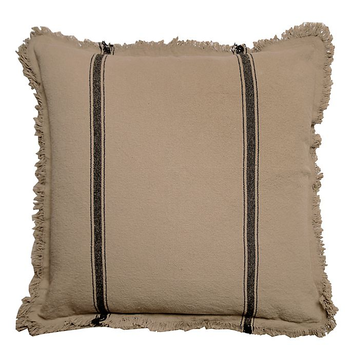 Alternate image 1 for Bee & Willow™ Home Striped Linen Square Throw Pillow