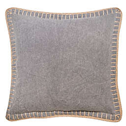Bee & Willow™ Home Whipstitch Square Throw Pillow in Grey