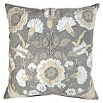 Bee & Willow Home Floral Square Throw Pillow in Grey