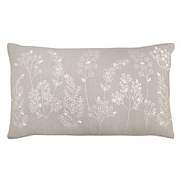 Bee & Willow™ Home Aneko Floral Oblong Throw Pillow in Grey
